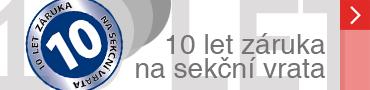 10 let záruka na sekční vrata od Technoparku